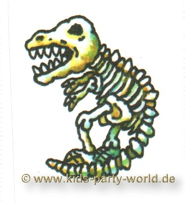 Mini Tattoo Dinosaurier Skelett Kinder Tattoos