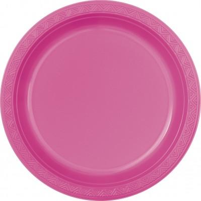 6 plastik teller helles pink. Black Bedroom Furniture Sets. Home Design Ideas
