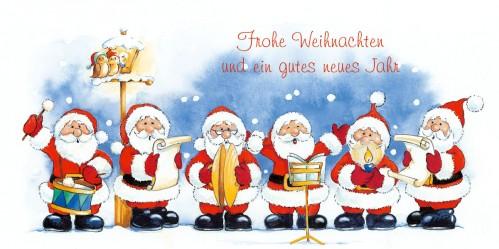weihnachtskarte weihnachtsm nner chor