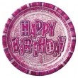 Happy Birthday Glitzer Pink