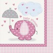 48 Teile Baby Shower Deko Set Rosa Elefant 16 Personen