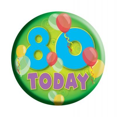 Geburtstags Button 80