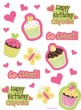4 Bogen Muffin Party Stickers