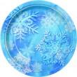 8 kleine Teller Schneeflocken