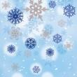 16 kleine Schneeflocken Servietten