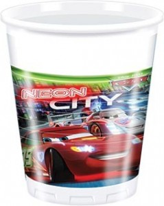 8 Becher Cars Neon