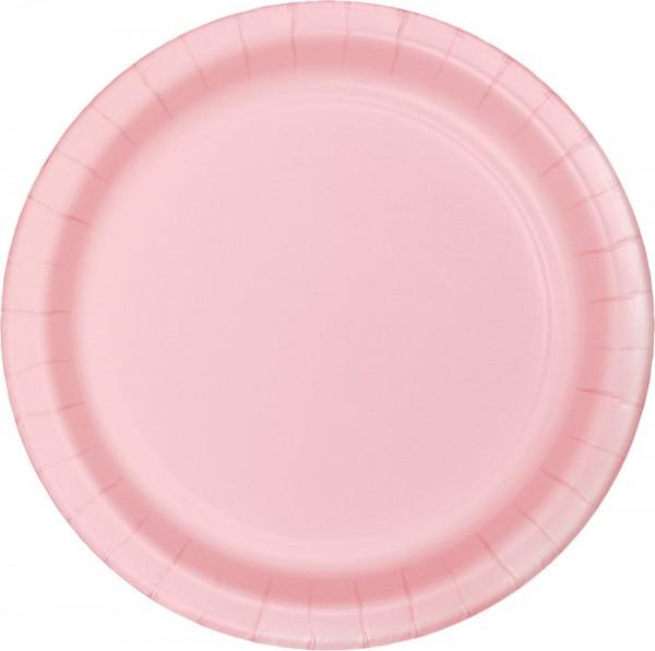 24 pappteller pastell rosa