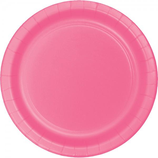 24 Pappteller Bonbon Rosa