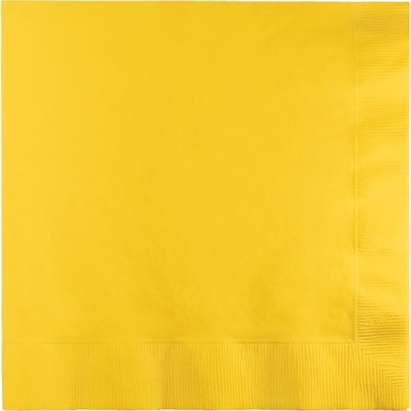 50 Servietten Sonnen Gelb