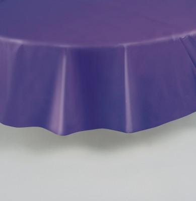 runde plastik tischdecke violett. Black Bedroom Furniture Sets. Home Design Ideas