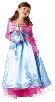 Barbie Ballkleid Kostüm mit Puppenkleid Hellblau