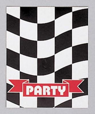 Einladungskarten Schwarz Weiß Formel 1 Party
