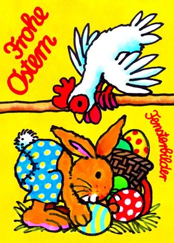 Fensterbild postkarte osterhase - Osterhase fensterbild ...