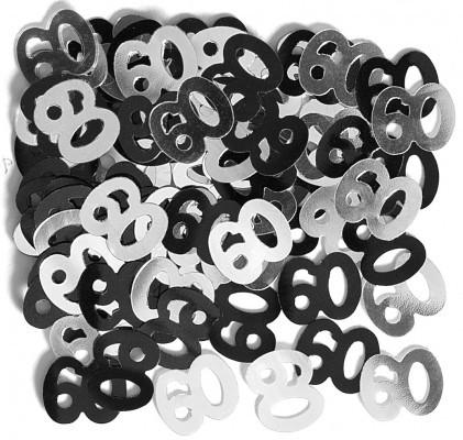 60 geburtstag deko konfetti schwarz. Black Bedroom Furniture Sets. Home Design Ideas