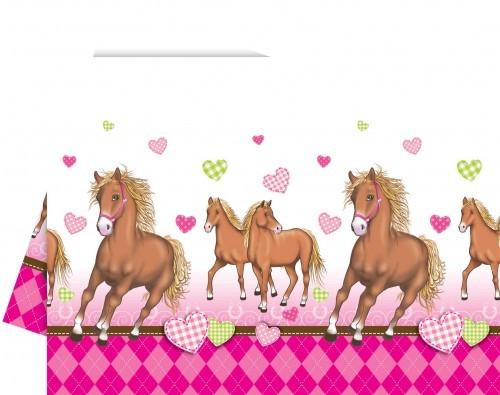 Pink Pony Party Tischdecke