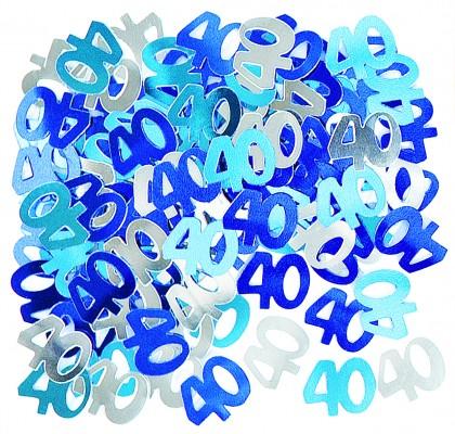 40 geburtstag deko konfetti blau. Black Bedroom Furniture Sets. Home Design Ideas