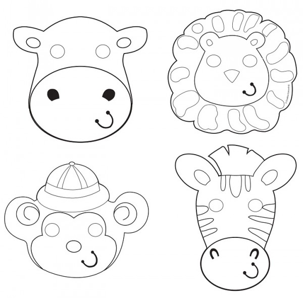 12 Tier Masken Safari Abenteuer