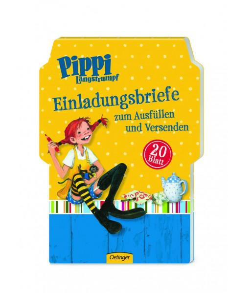 20 Einladungskarten Pippi Langstrumpf