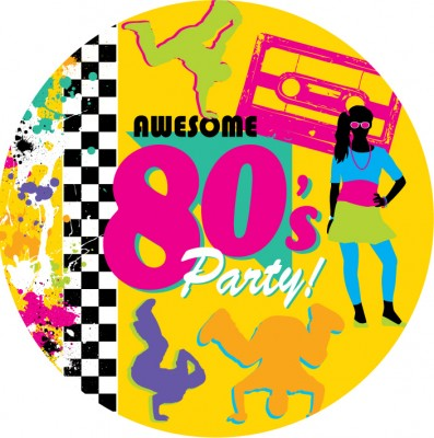 80er Jahre Motto Party Teller