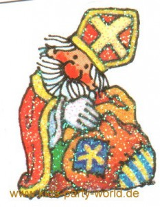 Mini Glitter Sticker Nikolaus