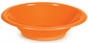 20 Plastik Schalen Orange