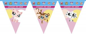 Littlest Pet Shop Wimpel Girlande