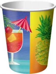 8 Becher Hawaii Party