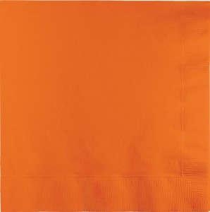 50 Servietten Orange – Bild 1