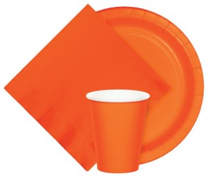 24 Papp Becher Orange – Bild 2