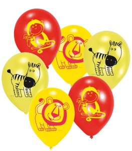6 Safari Ballons