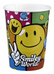 8 Becher Smiley