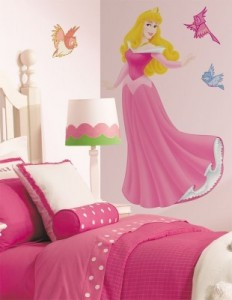 Glitzer Wandsticker Disney Sleeping Beauty