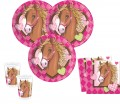 20 Pferde Party Servietten Pink Pony