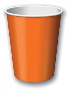 8 Papp Becher Orange