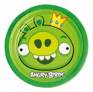 8 kleine Teller Angry Birds Classic