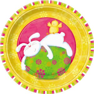 8 Ostern Pappteller Sweet Bunny