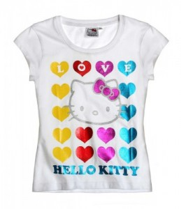 Hello Kitty T-Shirt weiss