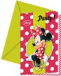 6 Minnie Fashion Einladungskarten