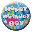 Geburtstags Button Happy Birthday Boy