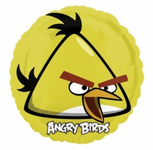 Angry Birds Folienballon gelber Vogel