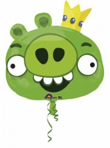 Angry Birds Supershape Folienballon Schwein