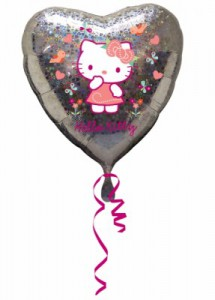 Hello Kitty Glitzer Folienballon