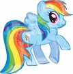 XXL Folienballon My Little Pony Rainbow Dash