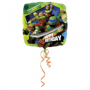 Geburtstags Folienballon Ninja Turtles