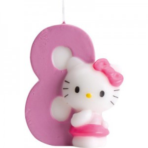 Hello Kitty Kerze 8