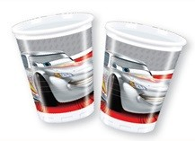 8 Cars Silver Edition Plastik Becher