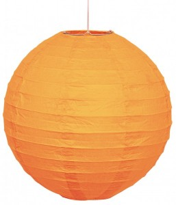 Lampion rund Orange