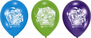 6 Ninja Turtles Luftballons
