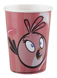 8 Becher Angry Birds Pink