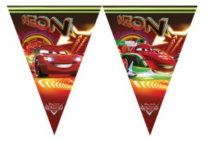 Cars Neon Wimpel Girlande